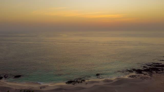 hyperlapse beach on masirah island at sunset - gulf countries stock videos & royalty-free footage