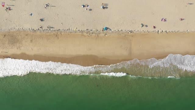 beach overhead static - algarve stock-videos und b-roll-filmmaterial