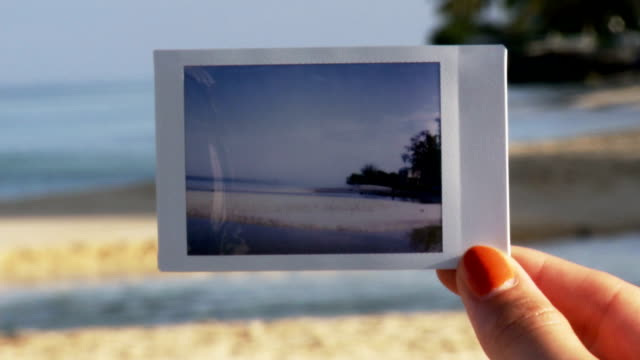 beach polaroid - polaroid stock videos & royalty-free footage