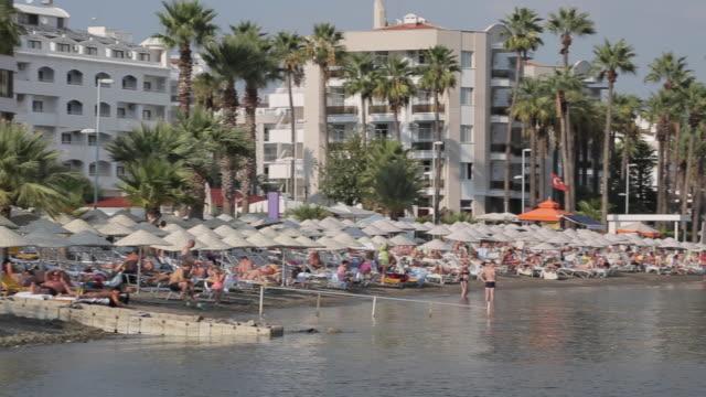 beach scene, marmaris, anatolia, turkey - turkey stock videos and b-roll footage