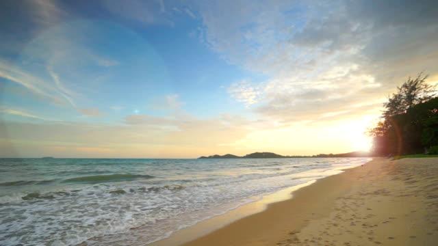Escena de la playa de arena de muestra