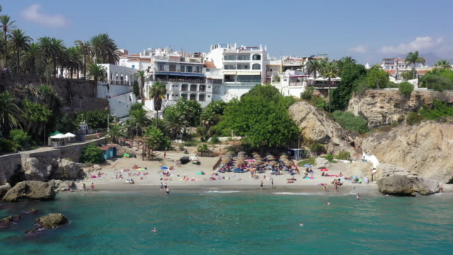 beach scenery / costa del sol, malaga, spain - spain stock videos & royalty-free footage