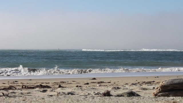 Beach scenes in California