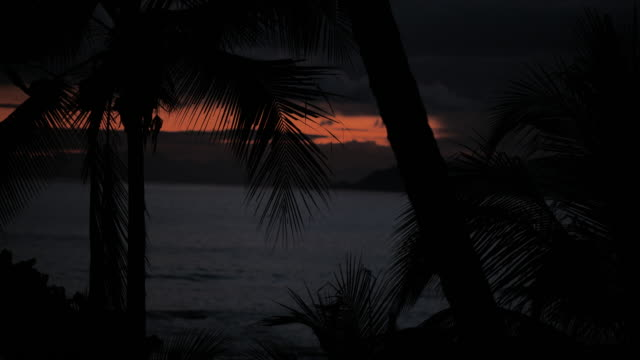 beach sunrise, montezuma, puntarenas province, costa rica - costa rica stock videos & royalty-free footage