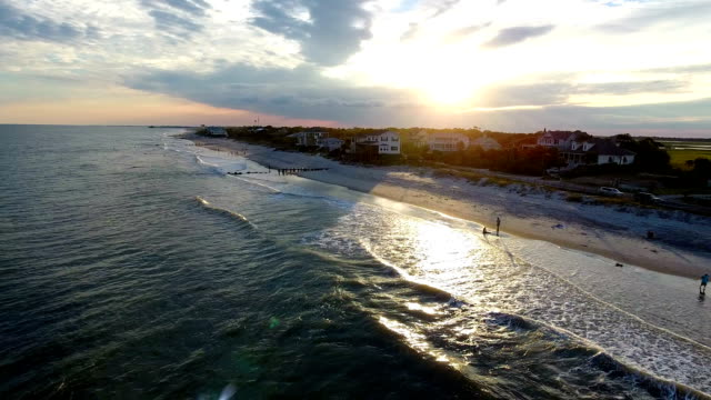 beach town at sunset - south carolina stock videos & royalty-free footage