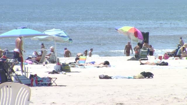 Beach Umbrellas at Far Rockaway Beach
