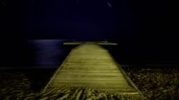 A beach under the stars