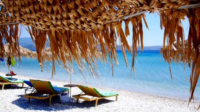 beach - greece stock videos & royalty-free footage