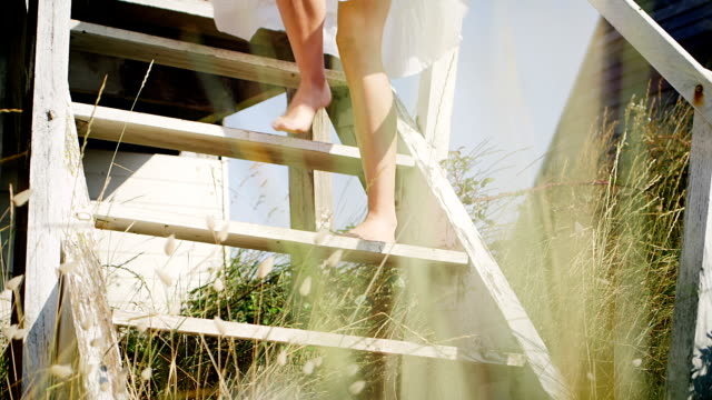 beach - steps stock videos & royalty-free footage