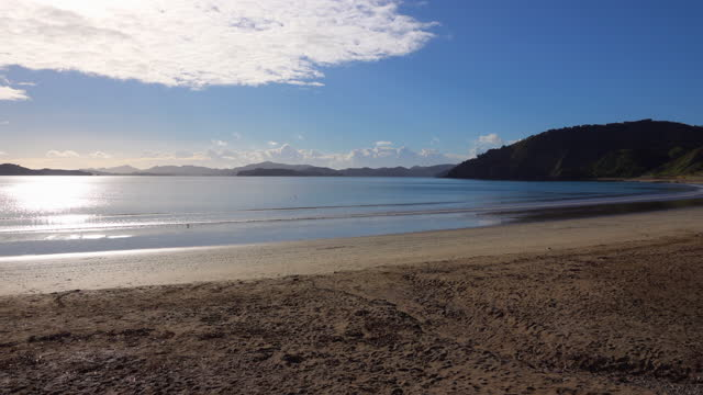 beach view in bay of islands, russell new zealand - bay of islands new zealand stock videos & royalty-free footage