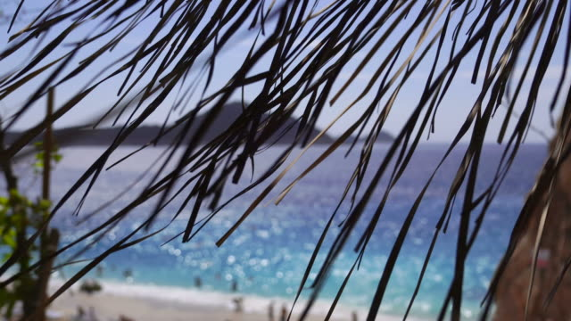 beach view with turquoise sea - bahamas stock videos and b-roll footage