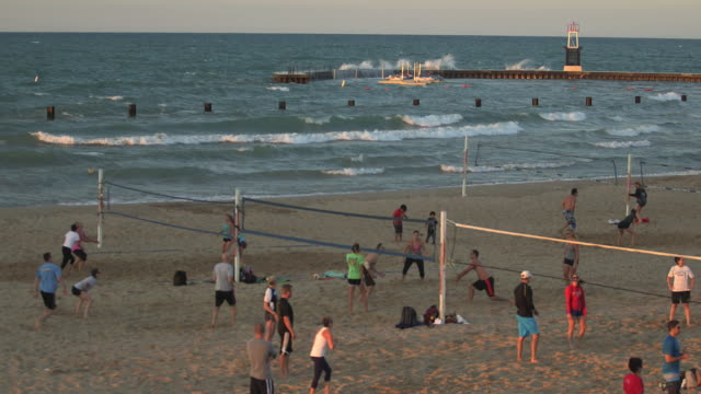 Beach Volleyball At The North Avenue Beach in Chicago