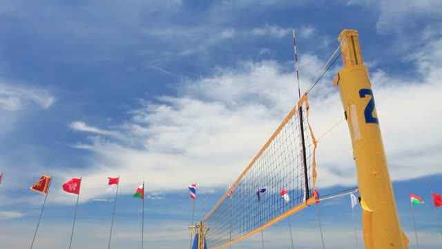 beach volleyball courts. hd1080p - beach volleyball stock videos & royalty-free footage