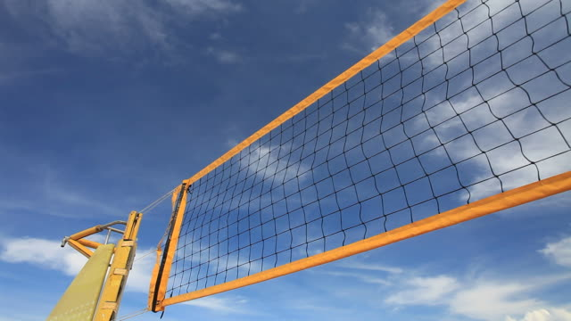 beach volleyball net hd1080p - netting stock videos & royalty-free footage