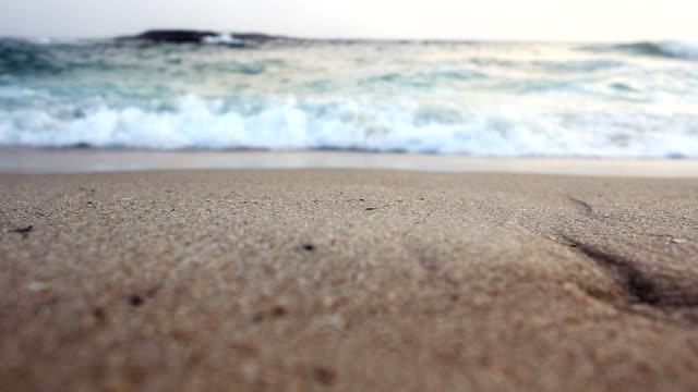 Strand-Welle trifft die Kamera