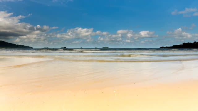 beach with cloudscape - time lapse - koh chang stock videos and b-roll footage