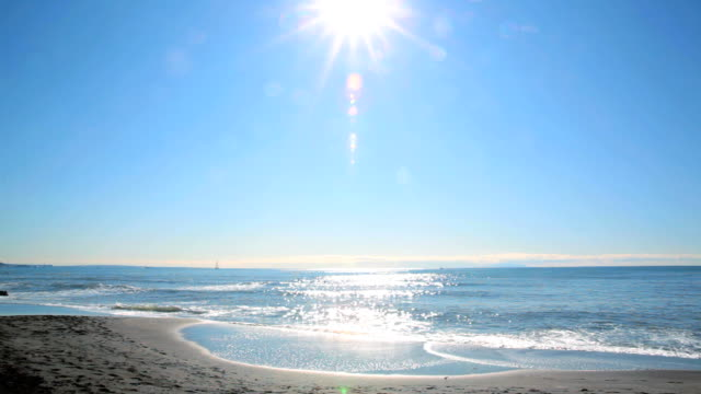 beach with sun - summer heat stock videos & royalty-free footage