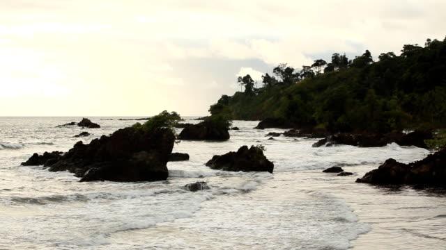 vidéos et rushes de playa con oleaje - mar