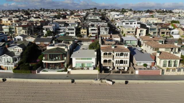 beachfront homes neighborhood - southern california stock videos & royalty-free footage