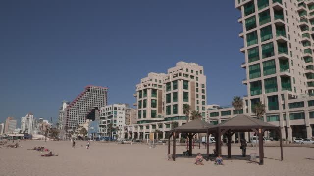 beachgoers, tel aviv, israel - tel aviv stock videos & royalty-free footage