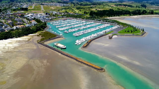 beachlands aerial view - marina stock videos & royalty-free footage