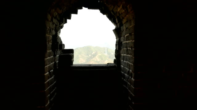 beacon crack at the site of the ancient great wall of china - battlefield stock videos & royalty-free footage