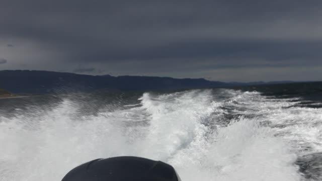 beagle channel in tierra del fuego archipelago in argentina - speed boat stock videos & royalty-free footage