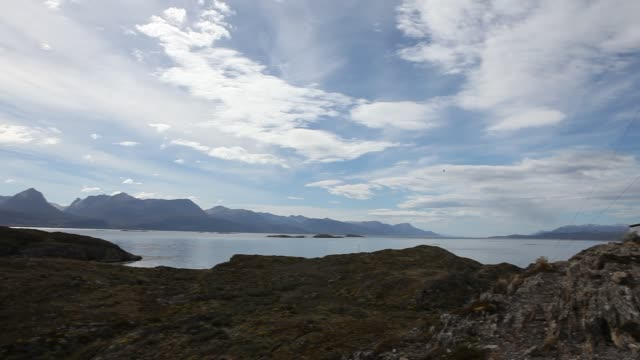 beagle channel in tierra del fuego archipelago in argentina - communications tower stock videos & royalty-free footage