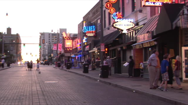 WS PAN Beale Street at dusk, Memphis, Tennessee, USA