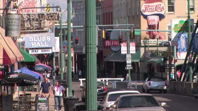 ms beale street, memphis, tennessee, usa - tennessee stock videos & royalty-free footage