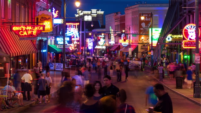 beale street - tennessee stock videos & royalty-free footage