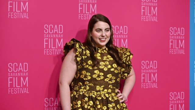 beanie feldstein at the 22nd scad savannah film festival – red carpet - day 5 on october 30, 2019 in savannah, georgia. - day 5 stock videos & royalty-free footage
