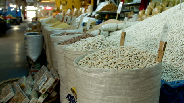 beans in street market - drip bag stock videos and b-roll footage