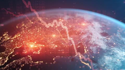 bear market - financial crash - global recession - european economy going down - trading stock videos & royalty-free footage