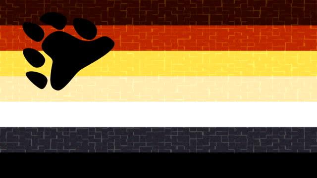 bear pride community flag - homosexual stock videos & royalty-free footage