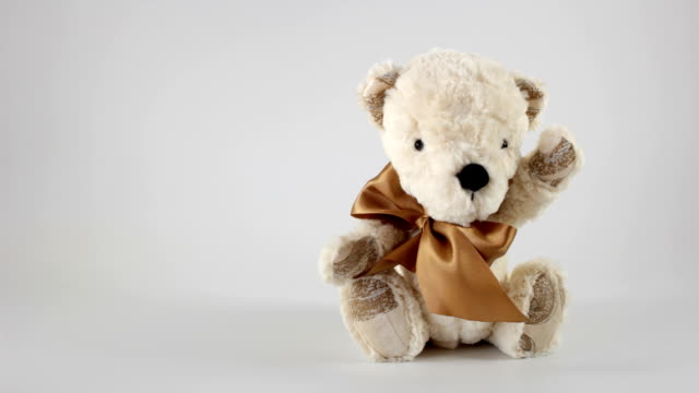 bear toy - teddy bear stock videos and b-roll footage