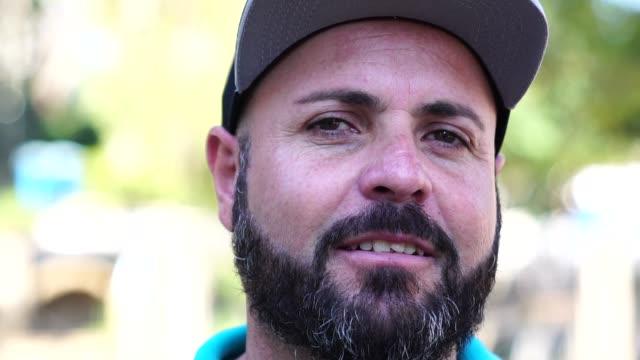 beard man portrait - pardo brazilian stock videos & royalty-free footage