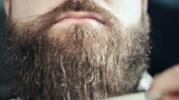 Bearded hipster face. Hipster moustache lips. Moustache man face