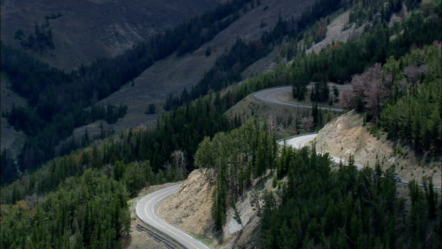 Beartooth Pass  - Aerial View - Montana, Carbon County, United States