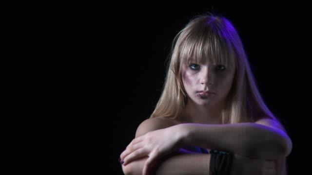 hd: beaten teenage girl - bullying stock videos and b-roll footage
