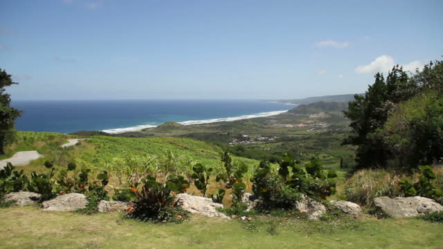 A beatiful panoramic shot from a hill in Barbados