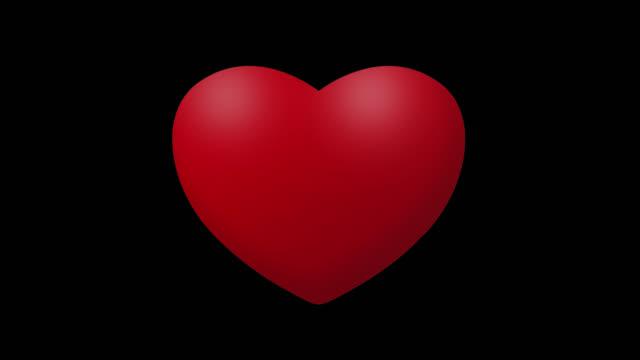slå röd grafisk heart icon. 4k animation loop med alpha channel, kan användas för alla hjärtans dag, mors dag, speciella dagar, evenemang, festivaler eller konsert - lyssna på hjärtslag bildbanksvideor och videomaterial från bakom kulisserna