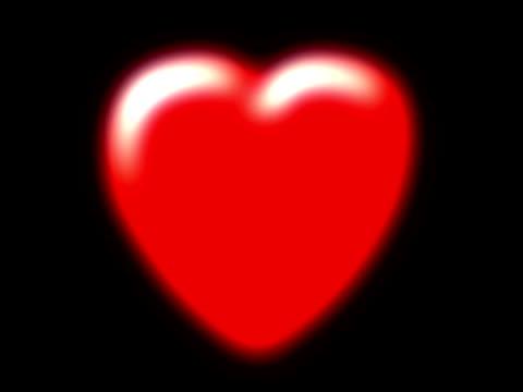 vídeos y material grabado en eventos de stock de latidos rojo corazón (ntsc - elemento de diseño