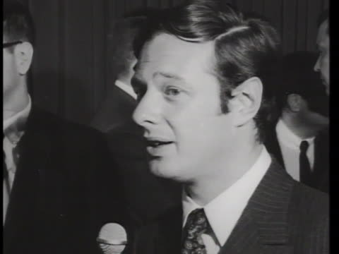 beatles manager brian epstein has an interview with reporters in new york city during the band's 1966 american tour about a misstatement that... - rock group stock videos & royalty-free footage