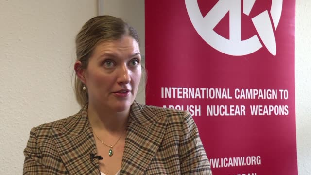 beatrice fihn the executive director of the international campaign to abolish nuclear weapons comments on russia's controversial missile system which... - executive director stock videos & royalty-free footage