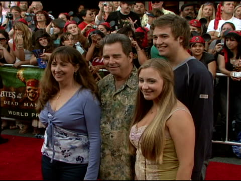 beau bridges and family at the walt disney pictures' 'pirates of the caribbean: dead man's chest' world premiere at walt disneyland resort in... - the family man film title stock videos & royalty-free footage