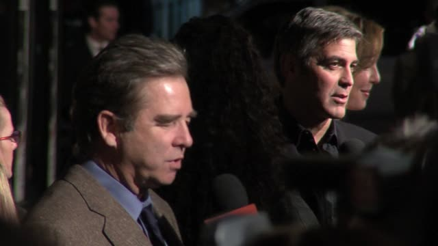 beau bridges and george clooney at the the good german los angeles premiere at the egyptian theater in hollywood california on december 4 2006 - 2006 stock videos & royalty-free footage