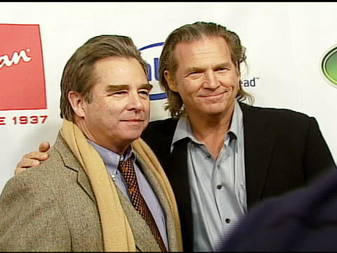 beau bridges and jeff bridges at the hollywood entertainment museum annual awards at esquire house 360 in beverly hills california on november 30 2006 - hollywood entertainment museum stock videos & royalty-free footage