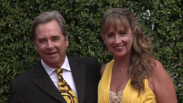 beau bridges and wendy treece at the 2015 creative arts emmy awards at microsoft theater on september 12 2015 in los angeles california - emmy awards stock-videos und b-roll-filmmaterial