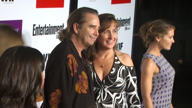 beau bridges , guest at the entertainment weekly - women in film pre-emmy party at west hollywood ca. - pre emmy party stock videos & royalty-free footage